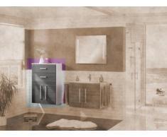 MIDI armario Lugano/Como color (front): pino antracita, color (estructura): blanco brillante