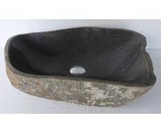 Lavabo en piedra natural, diametro 50 cm + 1 tapon (desagüe) 8cm. Elección sobre fotos con dimensiones exactas