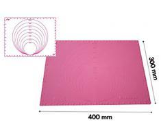 Silikomart 23.014.19.0069 - PRECISION MAT Tapete de Silicona de precisión con diámetros para trabajar pasta de azúcar. Color: Fucsia