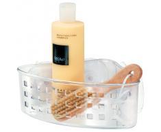 InterDesign - Canasto para cubículo de ducha, con ventosas; para champú, acondicionador, jabón - rinconero - Claro