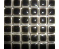 Mini Mosaic cerámica esmaltada para azulejos de 10 mm gris
