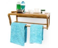 Estantería toallas, toallero bambú 60 x 26 x 20 cm