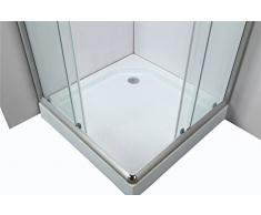 Ducha cabina de ducha Templo LXW de 6126 incl. Plato de ducha 80 x 80 cm