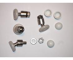 4 soportes para cañas de pescar de repuesto giratorio para mampara de ducha de 20 mm con ruedas con junta universal.