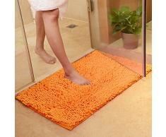 DOTBUY Alfombras de Baño, Chenille Antideslizante Súper Absorbente Suave Cómodo Alfombra de Ducha Alfombra de Baño Alfombra de Baño (40 * 60cm, Naranja)