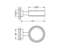 Grohe 40508000 - Soporte jabonera Essentials Cube