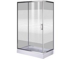 Cabina de ducha BRIXO FENICOTTERO 120 x 80 x 185 cm con vidrio5 mm.