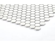 1QM Hexagon estructura cerámica mosaico azulejos Mate en blanco (mt0089 M2)