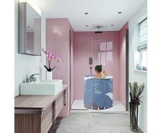 LiChaoWen Plegable con Patas Remojo Tina No Inflable De Plástico De Baño De Hidromasaje For Ducha (Color : Blue, Size : One Size)