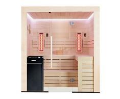 EO-SPA E1202B-IR Vitra - Sauna de madera de álamo (202 x 198 9 kW)