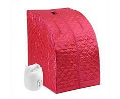 GJNVBDZSF Carpa Plegable, Sauna de Vapor portátil, máquina de Vapor Olla, desintoxicación Adelgazante de pérdida de Peso de Sauna Personal con Control Remoto Temporizador 2L