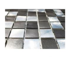 Acero inoxidable de mosaico de vidrio mosaico de azulejos de pared aluminio-mosaico SILVER DARK GRAY - 1 para