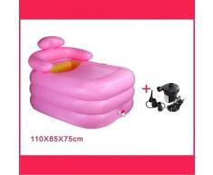 LJQLXJ bañera Pie Adulto Inflable Portátil Banho Banheira Inflavel Tub Sauna Bath Bañera Inflable, número 2
