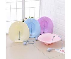 Tina de baño bidé portátil o Kit de lavamanos con rociador (Azul) 1PC
