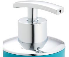 WENKO 21224100 Dispensador jabón Brasil petrol - a prueba de rotura, 0.32 L, Elastómero termoplástico (TPE), 7.3 x 16.5 x 9 cm, Petróleo