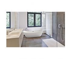 Lujo bañera independiente 170 x 80 + acrílico bañera (Incluye desagüe y rebosadero Whirlpool, ducha, cuarto de baño) – Acción especial.