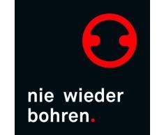Nie Wieder Bohren BT110P - Cesta para ducha (cromada, técnica de fijación especial)
