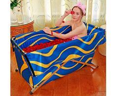Neilyn Baño de la sauna Bañera plegable de doble uso Bañera plegable para adultos Bañera Bañera Bañera para niños Bañera no inflable Bañera para el hogar portátil Salud en el hogar Barril de baño Piscina para niños