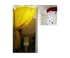 Las cortinas de la ducha con cortina de ducha circular seca rápido engrosamiento aislamiento impermeable cuenta baño moho baño caliente cubierta anti estática - la cortina de la ducha ( Color : B , Tamaño : 100*200 cm )