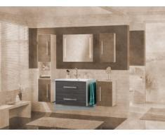 Lavabo Armario Lugano/como color (estructura): Blanco Brillante, color (frontal): pino Antracita