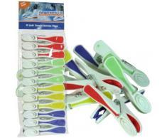 Hangerworld - Pinzas De Plástico Súper Resistentes, Multicolores, 36 Unidades