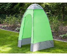 Skandika Cabina ducha camping - Cabina ducha de camping, color verde / gris, talla 130 x 130 x 210 cm