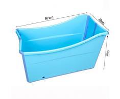 HUACANG Baño Adulto Plegable bañera portátil, los niños juegan con bañera Acolchada niño de Verano (Azul + Rosa) (Color : Azul)