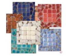 mosaicmicros 5 x 5 x 3 mm 10 g (azulejos de mosaico de cerámica esmaltado Mini, Royal Blue