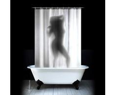 Desconocido Cortina de Ducha Sexy Mujer Desnuda en la Ducha - Cortina Inusual con Figura