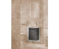 Lavabo mueble para fregadero de aseo Vadea color (front): pino antracita, color (estructura): pino Antracita
