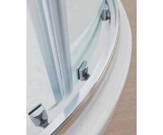Mampara de ducha corredera redondo circular cristal, 6 mm, transparente, 80 x 80 mm, 90 x 90 mm, 100 x 100