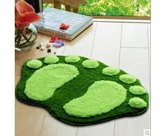 HuntGold 1X pies grandes Printing we R Sports para puerta de baño que absorbe de alfombra 60 * 40 cm (verde)