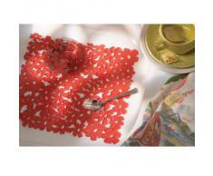 InterDesign Blumz - Tapete para lavabo, tamaño estándar, Rojo