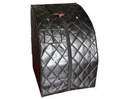 HZX Interior Plegable Infrarrojo Lejano Infrarrojo Turmalina Sudor Seco Sauna Vaporera Tienda Hogar Portátil Caja de Sudor Pérdida de Peso Y Tratamiento de SPA Corporal 1100W, Negro, B