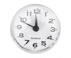 No-tictac Silent Wall Clock - Reloj Digital de Cuarzo Impermeable Mini Cute Design Cuarto de Baño Cocina de Aspiración de Ducha Uso de la ducha 6 Colores ( Color : Blanco )