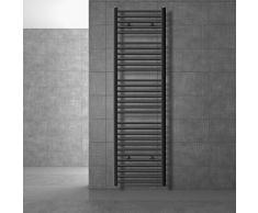 Plano Secador de Toallas con conexi/ón Lateral ECD Germany Radiador toallero de ba/ño Blanco 750 x 1200 mm
