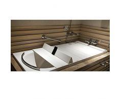 ASD Bañera Plegable a Prueba de Polvo a Prueba de Polvo Tina de baño Cubierta de PVC Negro,122 * 80 * 0.6CM