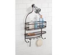 InterDesign York Lyra - Organizador Jumbo para ducha, color bronce