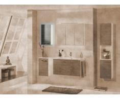 FACKELMANN armario Vadea, brillante blanco/pino color antracita tope izquierdo