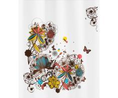 Kleine Wolke 5218148305 Crazy Flower - Cortina de ducha (180 x 200 cm), diseño de flores, multicolor