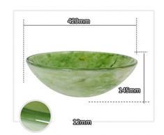 ARAYACY Lavabo Lavabo De Vidrio Templado/Arte De Imitación Jade Baño De Jade Lavabo Sobre Encimera Lavabo Sobre Encimera (Lavabo Simple)
