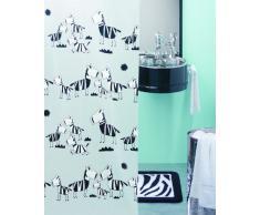 Spirella 1040502 Zebi - Cortina de ducha de plástico opaco (180 x 200 cm), color blanco con diseño de cebras