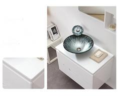 xie moderna mesa de cristal lavabo lavabo sobre encimera Art (450 * 13512 mm), vidrio, single basin