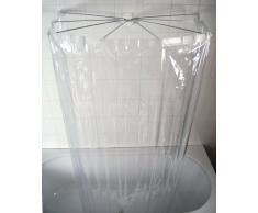 Ridder 582000-350 Ombrella kristall - Cortina de ducha, estructura de paraguas, transparente