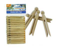 Hangerworld - Lote de 48 pinzas de madera