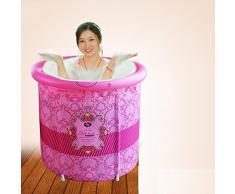 WSS Plegable adulto de tina de baño inflable bañera espesando los barriles fumigación de aislamiento la sauna baño doble uso . pink . 58*70