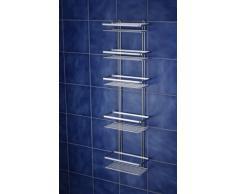 Euroshowers - Estantería grande para ducha (5 estantes, cromado satinado)