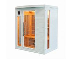 Sauna infrarrojos, sol color blanco 3 plazas sn-soleilbl3