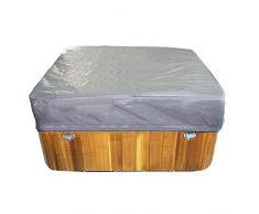 yummyfood Jardin Cubierta Protectora, Square Hot Tub Cover Cubierta para SPA Cubierta De Bañera De Hidromasaje Cuadrada para Jardín