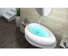 Diseñar lavabo contrario de cerámica con 870x600x125mm nano-recubrimiento